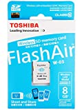 東芝 TOSHIBA 無線LAN搭載 FlashAir III Wi-Fi SDHCカード Class10 日本製 並行輸入品 (8GB)