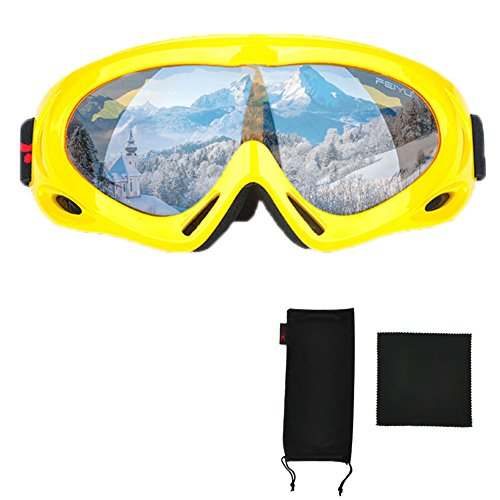 Mai Yi 球形スキーゴーグル 2017 サンディング防止+防風+取り外し可能 100%UV保護レンズ スノーボードグラス スノーモービル スノーゴーグル メンズ&レディース