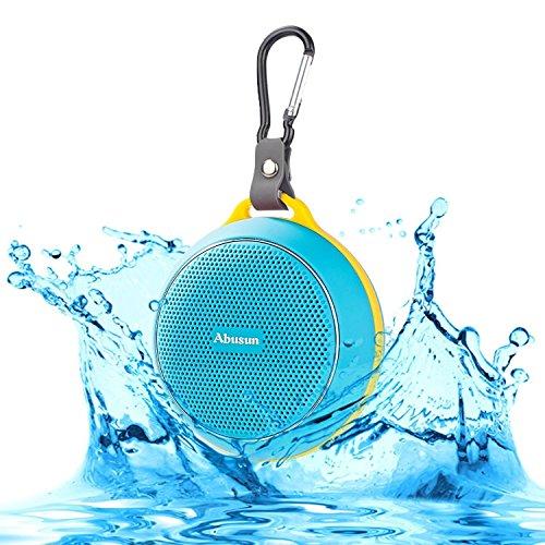 Abusun Bluetooth スピーカー 防水&防塵認証 スピーカー 高音質 音楽再生 ハンズフリー通話可能 iPhone iPod notePC Smartphone MP3Player等Bluetooth機器の対応 (ブルー)