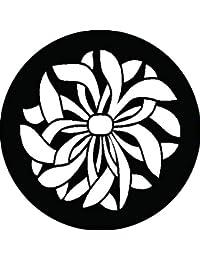 家紋シール 乱菊紋 布タイプ 直径40mm 6枚セット NS4-3005