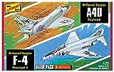 プラッツ 1/72 ベトナム戦争 アメリカ軍 F-4ファントムII & A4Dスカイホーク バリューパック プラモデル HL433