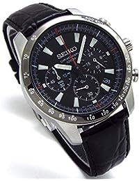 SEIKO クロノグラフ 腕時計 本革ベルトセット 国内セイコー正規流通品 ブラック SSB031P1 [並行輸入品]