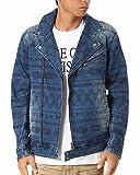 (エムシーディ) MCD ジャケット ネイティブ ダブルライダース デニム 173M1601 インディゴ Sサイズ