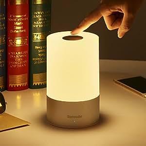 ベッドライト HomeCube ベッドサイドランプ テーブルランプ ランプシェード 照明スタンド 3段階調光 室内センサーライト 卓上スタンドライト USB充電 常夜灯 キャンプライト フック付き タッチセンサー式 停電対策 七色変換