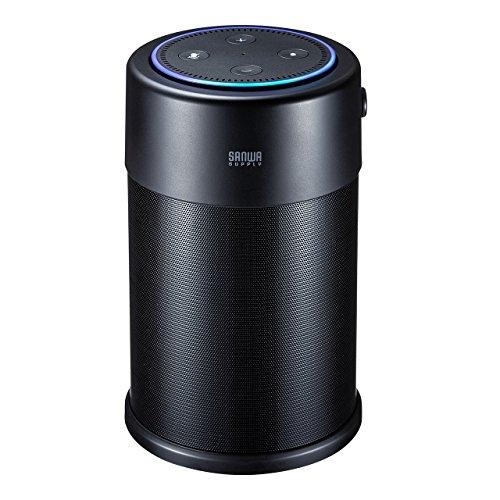 サンワダイレクト Amazon Echo Dot スピーカードック バッテリー搭載 ポータブル化対応 拡張スピーカー 10W 400-SP077
