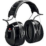 3M Peltor Worktunes Pro Earmuff Electronic Headphone Digital AM/FM Radio Hi-Fidelity Stereo Audio LCD Display Headset Black C