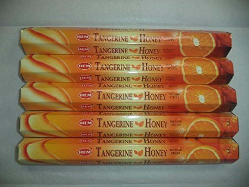 意図的フック患者Hem Tangerine Honey 100 Incense Sticks ( 5 x 20スティックパック)