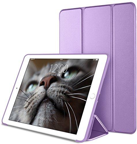 DTTO iPad Mini 1/2/3 ケース 生涯保証カード付け 超薄型 超軽量 TPU ソフト PUレザー スマートカバー 三つ折り スタンド スマートキーボード対応 キズ防止 指紋防止 [オート スリープ/スリー プ解除] クローブパープル