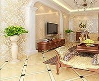 壁ステッカー平面3D立体ステッカー厚い自己粘着性の壁紙居間ベッドルームルームレストランホテル美容院の壁高さステッカー、ホームデコレーションウォールデカール(0.53 * 5m) (色 : C)