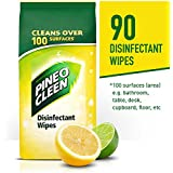 Pine O Cleen Disinfectant Surface Wipes, Lemon Lime Burst, 90 Wipes