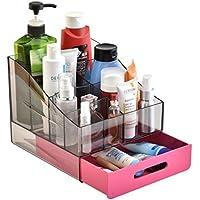 WTL かご?バスケット 引き出し式プラスチック化粧品収納ボックスドレッシングテーブルデスクトップ化粧品収納ボックスbathroom Shelf