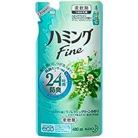 ハミングFine 柔軟剤 リフレッシュグリーンの香り つめかえ用 480ml