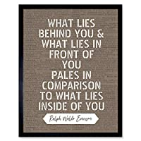 Dictionary Quote Emerson Lies Behind Front Inside Artwork Framed Wall Art Print 9X7 Inch 見積もり 壁
