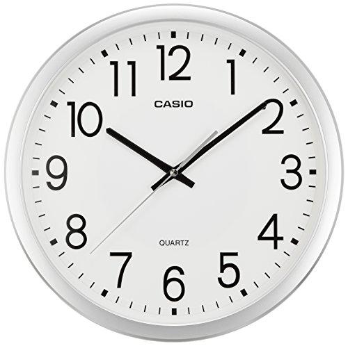 カシオ コチコチ音がしないスムーズ秒針 [クォーツ 掛け 時計] IQ-77-8JF シルバー 1個