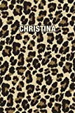 Christina: Personalized Notebook - Leopard Print (Animal Pattern). Blank College Ruled (Lined) Journal for Notes, Journaling, Diary Writing. Wildlife Theme Design with Your Name