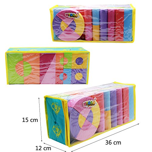 WTOR EVA素材 積み木 ブロック 知育 玩具 男の子 女の子 贈り物 誕生日プレゼント 出産祝い 50ピース (50ピース/バック)