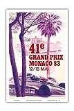 "41st Monaco Grand Prix 1983–Formula One Race Car–Vintage Car Racingポスターby Pierre Lecomte c.1983–マスターアートプリント 12"" x 18"" PRTB9074"