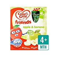 アップル&バナナ100%フルーツポーチ4×90グラム (Cow & Gate) - Cow & Gate Apple & Banana 100% Fruit Pouches 4 x 90g [並行輸入品]
