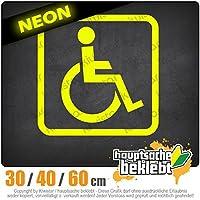 KIWISTAR - Wheelchair user design 1 15色 - ネオン+クロム! ステッカービニールオートバイ