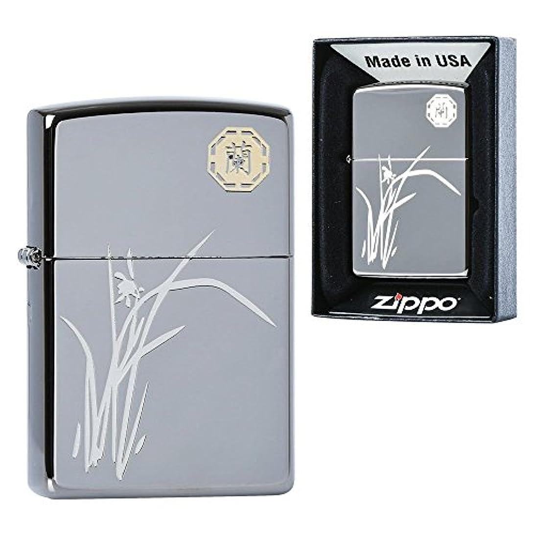 傷つける打倒黒くするZippo Neo Orchid Lighters メイドインアメリカの韓国版 [並行輸入品]