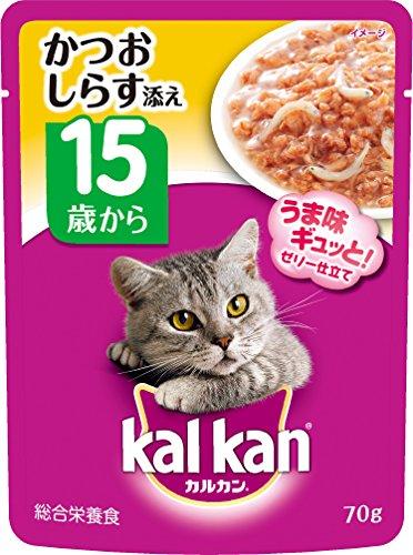 kalkan(カルカン)猫用 パウチ 15歳から しらすり かつお 70g 16袋 マースジャパン