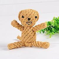 幼児期のゲーム かわいいペットのおもちゃ手編みの犬耐虫性のおもちゃ(猿)