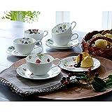 NARUMI(ナルミ) ルーシーガーデン ティーコーヒー兼用カップ&ソーサー5客 210cc 96010-23067P