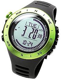 [LAD WEATHER]アウトドア腕時計 高度/気圧/温度/天気 距離/速度/歩数/消費カロリー デジタルコンパス 登山/トレッキング スイス製センサー搭載