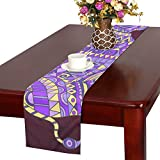 GGSXD テーブルランナー 親しい サイ クロス 食卓カバー 麻綿製 欧米 おしゃれ 16 Inch X 72 Inch (40cm X 182cm) キッチン ダイニング ホーム デコレーション モダン リビング 洗える