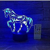 3Dナイトライトプードル犬3D LED成形ナイトライトUSB 7色を変えるテーブルランプベッドルーム動物睡眠照明キッズギフト1681 3D錯視ランプ