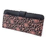 INDEN-YA 印傳屋 印伝 財布 長財布 薄型 レディース 女性用 黒×ピンク クレマチス 2107-51-169