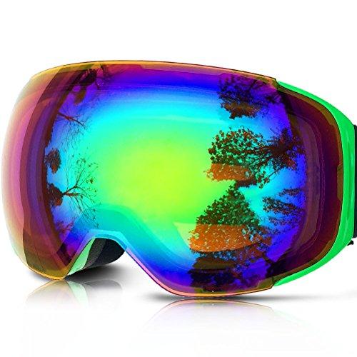 ZIONOR Lagopus X3 ゴーグル スノーボード スキー ダブルレンズ クイックチェンジマグネットレンズ 全面 UVカット (メンズ/レディース兼用) アンチフォグ 球面レンズ スケート スキー ゴーグル