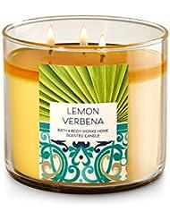 Bath & Body Works Lemon Verbena 3 Wick Candle – 14.5oz Fall 2016
