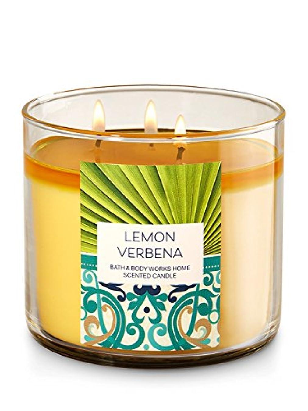 東遠い苦難Bath & Body Works Lemon Verbena 3 Wick Candle – 14.5oz Fall 2016