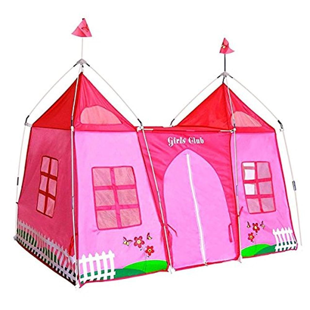 疑い者くつろぐ雄弁なLWT 子供の遊びテントキャッスルプレイハウス折りたたみ可能な屋内と屋外の装飾アンチモスキー(ピンク70.9 * 45.7 * 47.2インチのパッキング1)