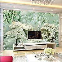 Wuyyii カスタム壁紙中国玉彫刻風景テレビの壁の壁画3D写真壁紙-350X250Cm