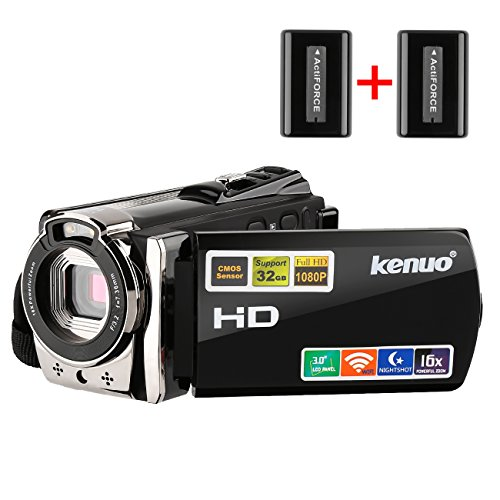 Kenuo HDビデオカメラ デジタルビデオカメラ 1080...