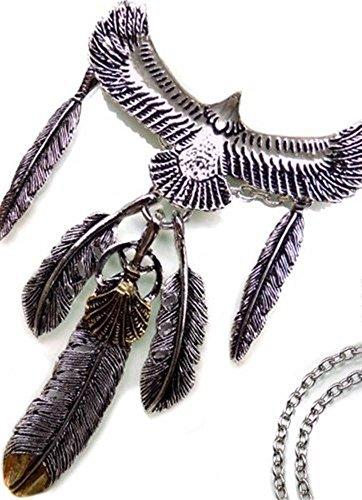 [해외][스완 유니온] swanunion [n1003] 깃털 날개 목걸이 이글 남성 롱 목걸이 swan01/[Swan Union] swanunion [n1003] Feather Feather Necklace Eagle Men`s Long Necklace swan01