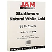 "Jam用紙Strathmore Letterカードストック–8.5"" X 14"" 250/Pack オフホワイト"