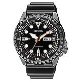 [シチズン]CITIZEN メンズ メガダイバー 自動巻き デイデイト ブラック ウレタンラバー 10気圧防水 NH8385-11E 腕時計 [並行輸入品]
