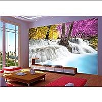 Wuyyii 壁のための3D壁紙の注文の壁画の非編まれた3D部屋の壁紙水景色の絵画中国の設定写真の壁紙