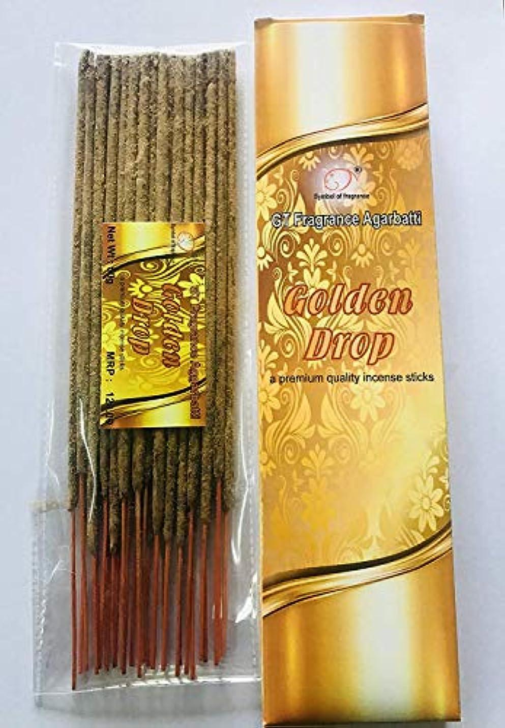 断線降雨通常Golden Drop. Bundle of 2 Packs, a Premium Quality Incense sticks-100g