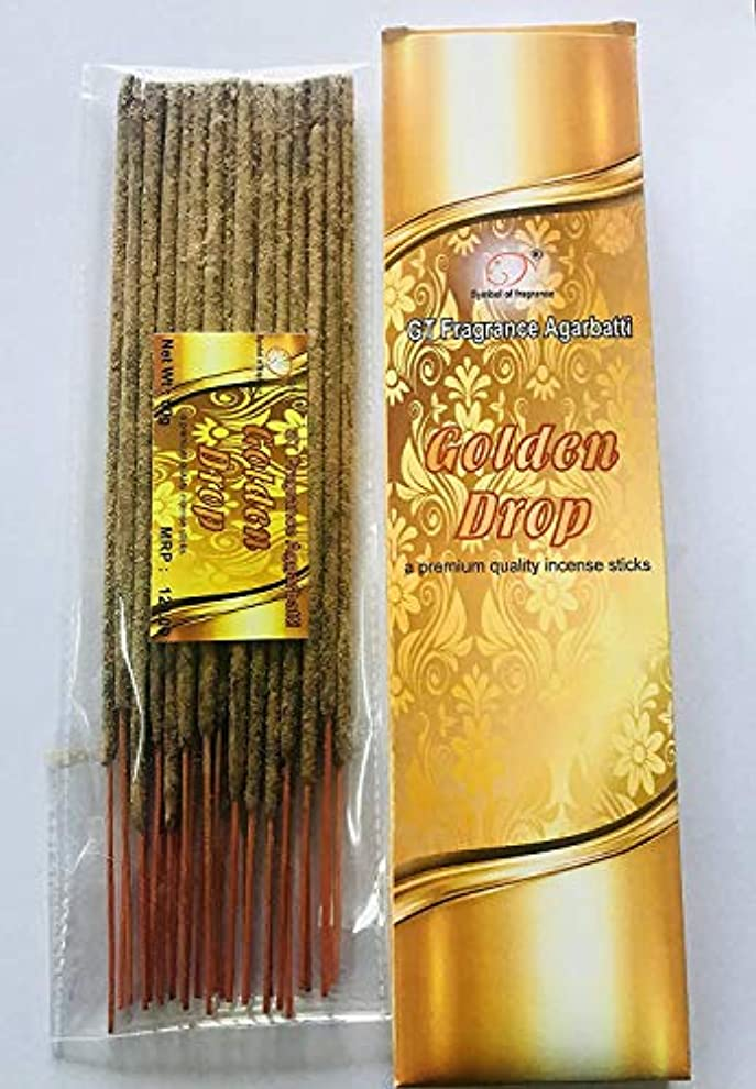 上がるさようならアブストラクトGolden Drop. Bundle of 2 Packs, a Premium Quality Incense sticks-100g