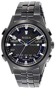 [リコー]RICOH 腕時計 シュルードリマインダー 10気圧防水 電磁誘導充電式 バイブレーションアラーム 日本製 オールブラック 660008-91 メンズ