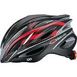 OGK KABUTO(オージーケーカブト) ヘルメット REGAS-2 マットブラックレッド M/L (頭囲 57cm~60cm未満)