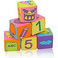 GRACEON Toys 赤ちゃん教育玩具 ビルディングブロック ファブリッククロスキューブ 子供のギフトサウンド