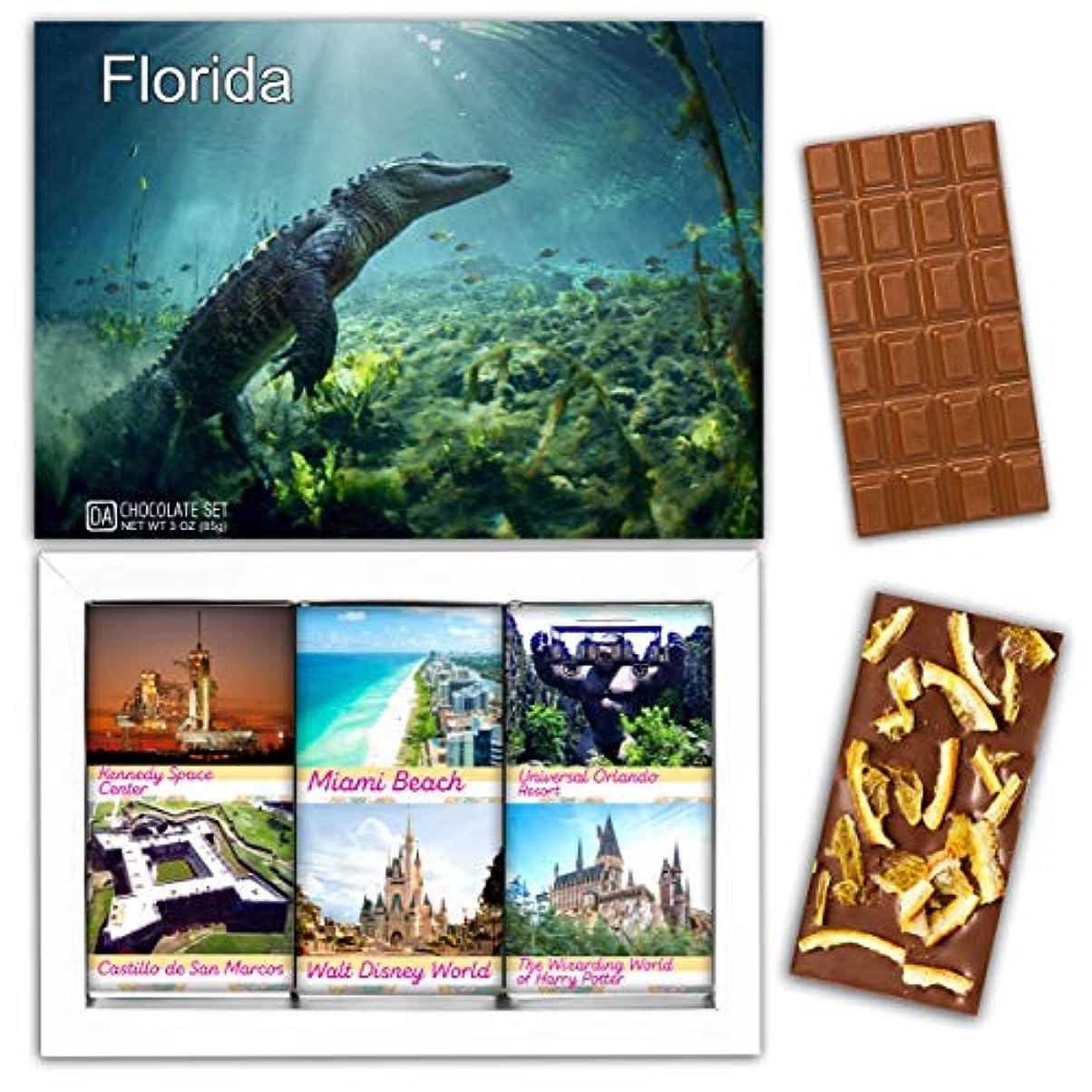 硬さケント栄養DA CHOCOLATE キャンディ スーベニア  フロリダ  FLORIDA チョコレートセット 7,2×5,2一箱 (MILK Orange Cedar Mint)