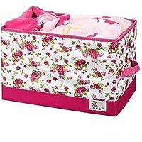 WTL かご?バスケット オープンボックスのワードローブの収納ボックスの衣類の収納ボックスの収納ボックスの仕上げボックス (色 : Spring bloom)