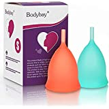 Bodybay Menstrual Cup,Set of 2 Periods Kit with FDA Registered,Best Feminine Alternative Protection to Tampons and Cloth Sanitary Napkins (Small)