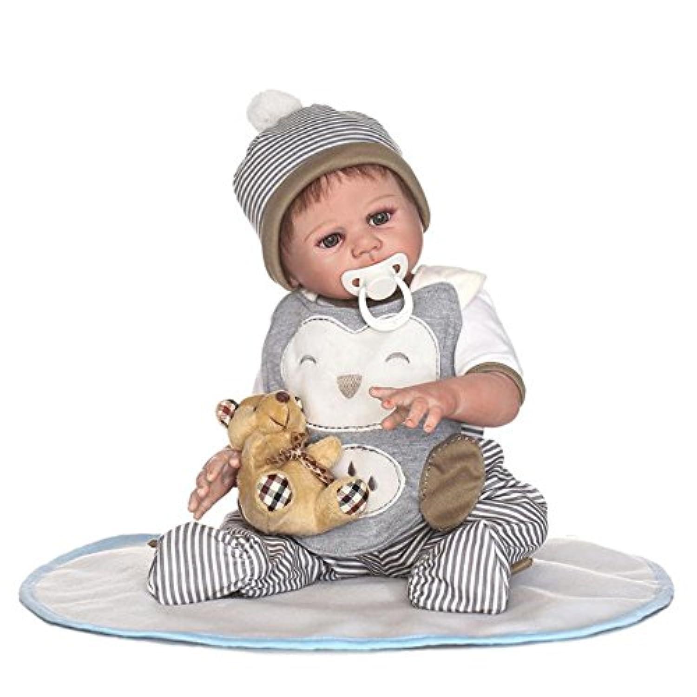Rebornベビー人形FullシリコンビニールボディリアルなAlive赤ちゃん少年人形防水Kids Playmates 20インチWear Clothes